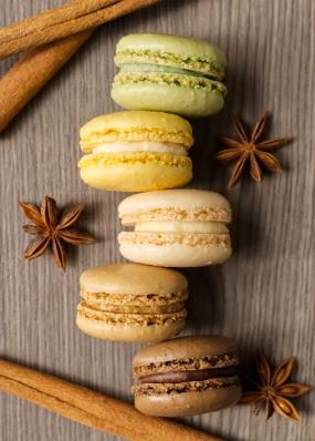 Macarons Colour Flat Lay